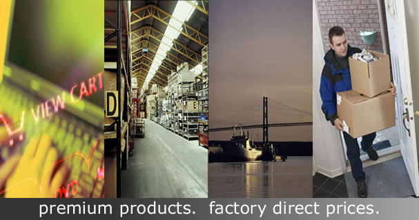 Factory Direct. No Middle Men.